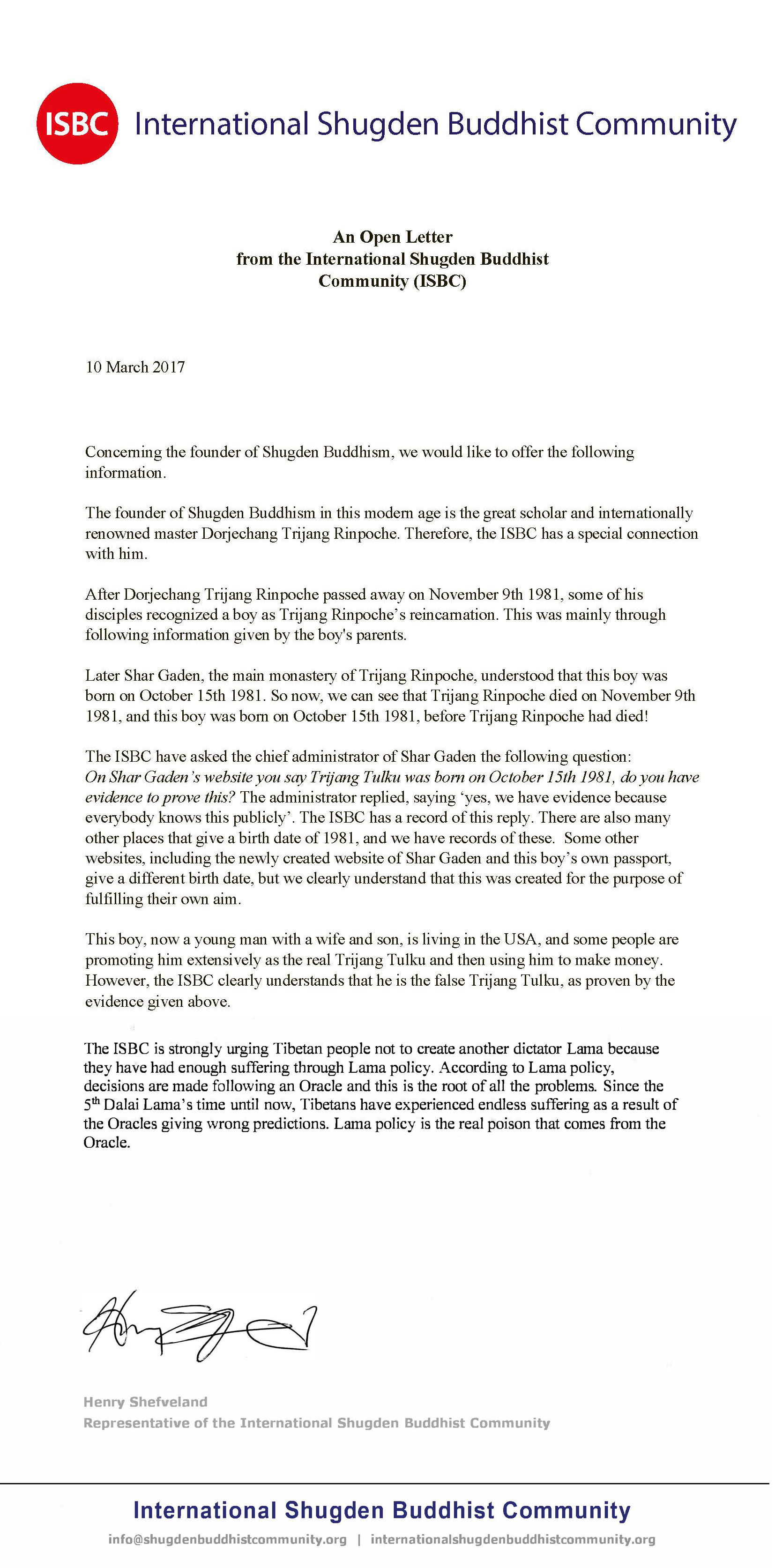A letter from the international shugden buddhist community kmc a letter from the international shugden buddhist community kmc maryland thecheapjerseys Images